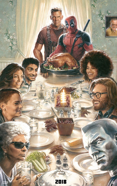 Deadpool 2 Illustrated Teaser Theatrical One Sheet Movie Posters