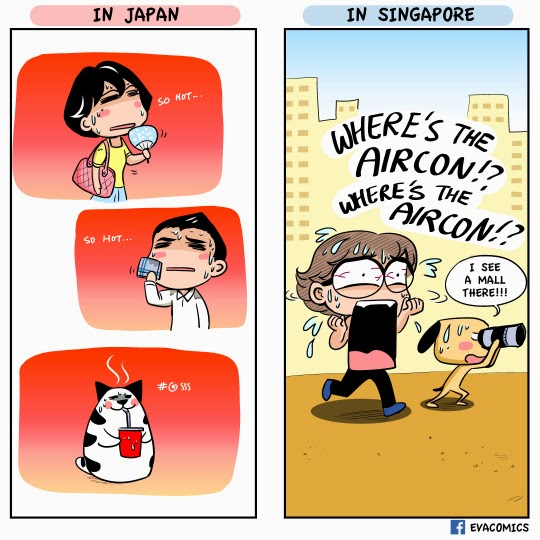 EVACOMICS BLOG: What to do when it gets too hot