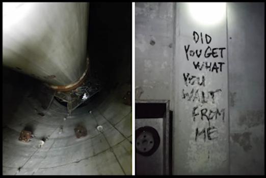 """""""¿Ya tienes lo que querías de mi?"""" Desconcertante grafiti"""
