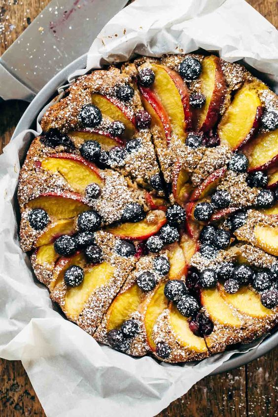 Blueberry Peach Cake Pinch Of Yum
