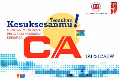 Beasiswa CA-IAI dan ICAEW untuk Mahasiswa Indonesia (PTN & PTS)