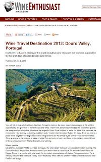 .: Wine Enthusiast Magazine suggests Douro Valley ...