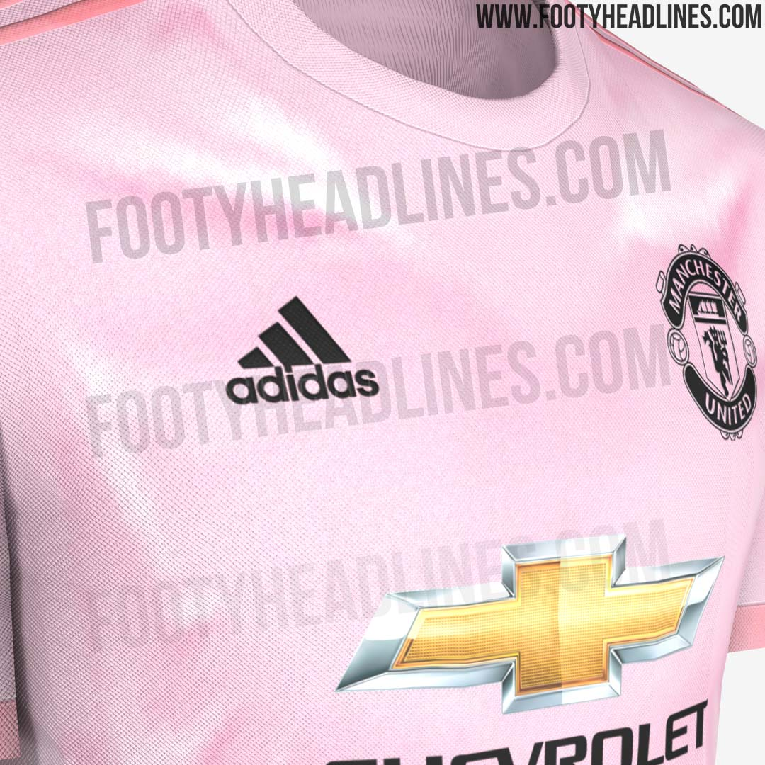 new product 229f3 20282 EXCLUSIVE: Pink Manchester United 18-19 Away Kit Leaked ...