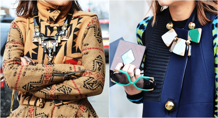 New York Street style statement necklaces