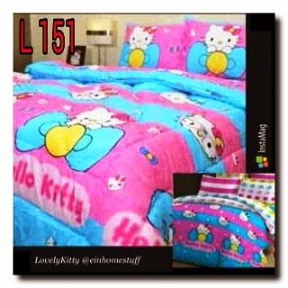 sprei lovely kitty sprei HK handamde pojokhandmde.com