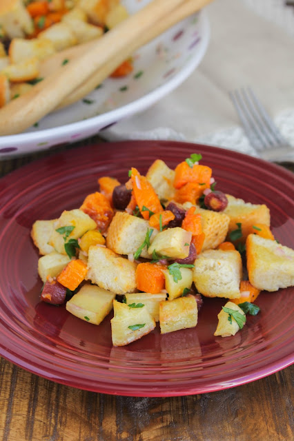 Roasted Root Vegetable Panzanella Salad | The Chef Next Door