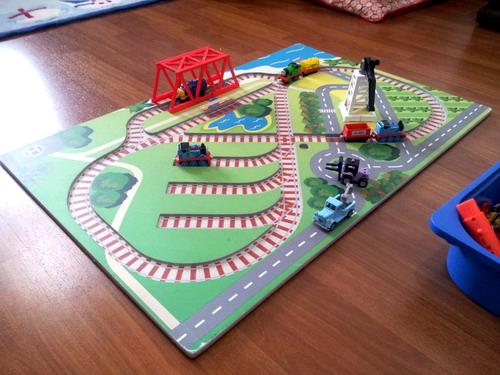 Moshe Things Train Playboard For Ezra