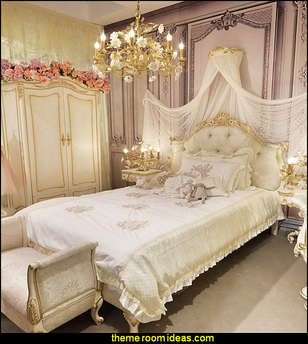 Decorating theme bedrooms maries manor princess style for Princess themed bed