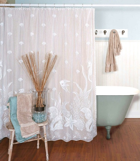 Under the Sea Coastal Shower Curtain
