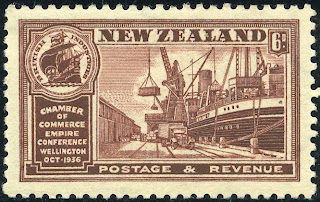 King George Vi Postage Stamps New Zealand 1936 1 Oct Congress Of British Empire Chambers Of