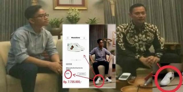 Dasyat, Ini harga sepatu Gibran yang dipakai saat bertemu putra SBY