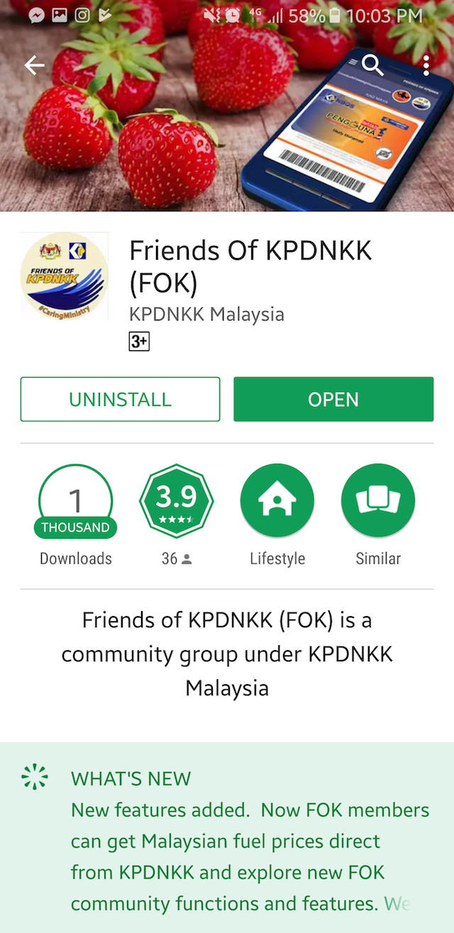 Friends of KPDNKK mobile app