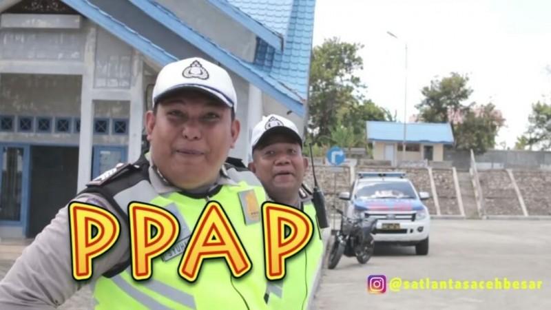 Video Joget PPAP ala Satlantas Polres Aceh Besar