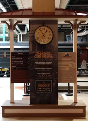 New welcome kiosk in Rolling Stock Hall at Railroad Museum of PA