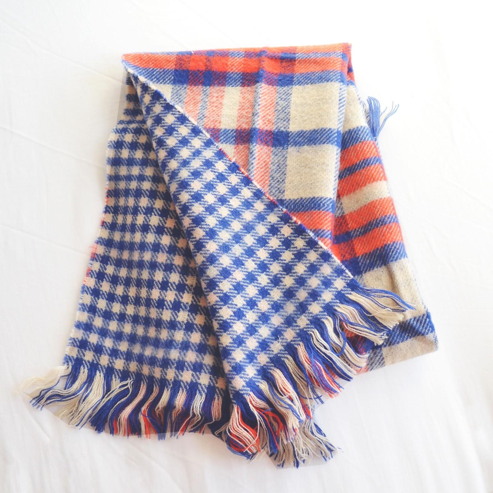 tartan scarf, checked scarf