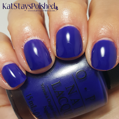 OPI Brights - My Car Has Navy-gation | Kat Stays Polished