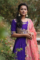 Actress Shraddha Srinath in Purple Chania Choli Cute Pics ~  Exclusive 39.jpg
