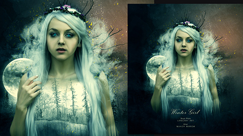 Create a Winter Girl Portrait Photo Manipulation In Photoshop