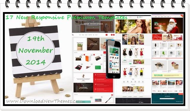 17 New Responsive Premium Themes
