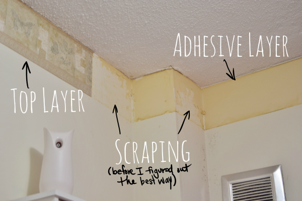 Wall Border Paper Diy Bathroom: Baseboard Heaters And Wallpaper Borders |  More To Mrs.