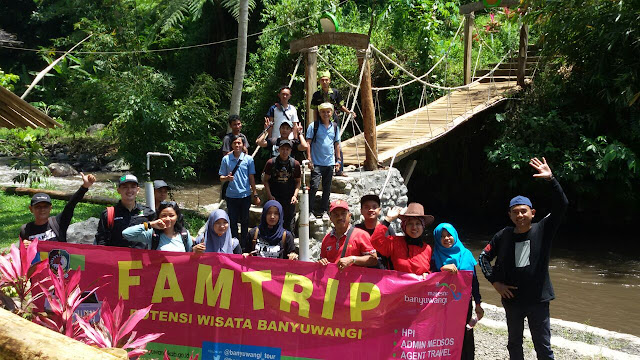 Famtrip Disbudpar Banyuwangi di wisata Songgon.