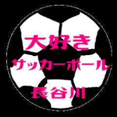 Love Soccerball HASEGAWA Sticker