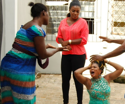 mercy johnson beat up bidemi kosoko