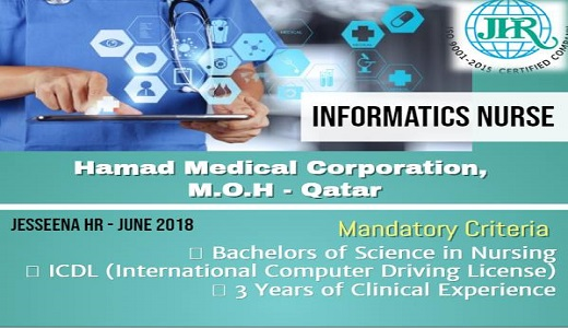 Vacancy for Informatics Nurse to HMC, MOH - Qatar ~ WORLD4NURSES