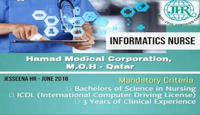 Vacancy for Informatics Nurse to HMC, MOH - Qatar