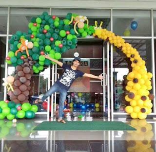 dekorasi balon bentuk gate