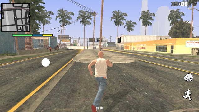 remove borders of all the buttons used to play GTA SA Android.