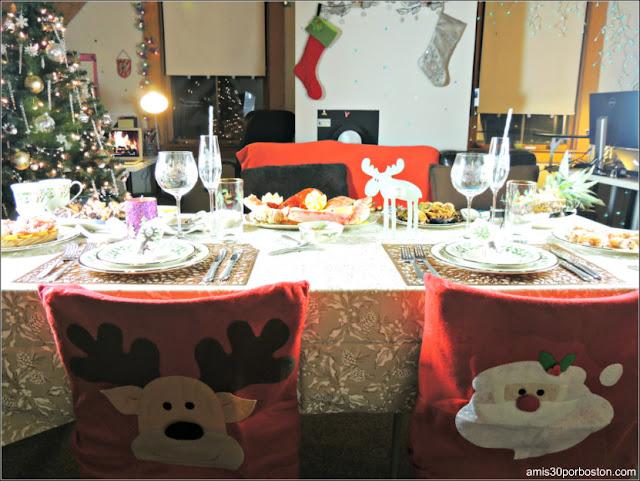 Mesa de la Cena de Noche Buena y Navidad 2016 en Boston