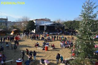 Το 15ο Δημοτικό Σχολείο Κατερίνης στο Χριστουγεννιάτικο χωριό. (ΦΩΤΟ)