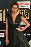 Esha Gupta in a Deep Neck Sleeveless Dark Green Gown at IIFA Utsavam Awards 2017     22.JPG