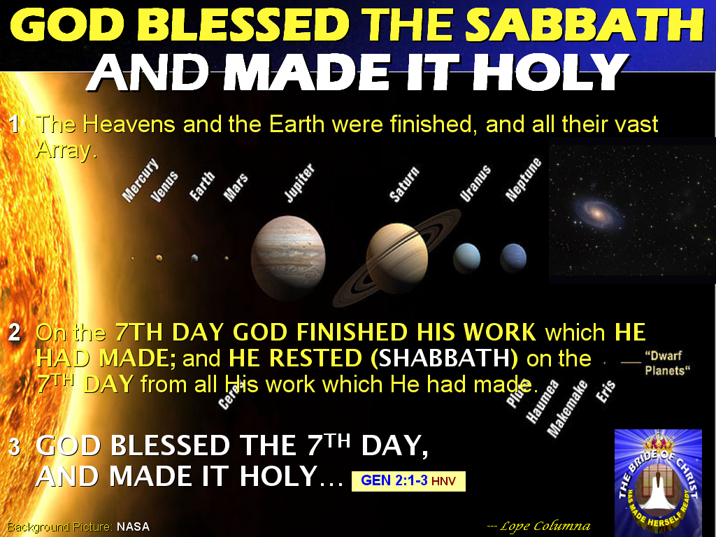 the importance of the sabbath day nowadays On a sabbath day early in his ministry, jesus announced in summary form the work he had been sent to perform his work was preaching the gospel, healing [both physically and spiritually] and liberating from oppression (luke 4:18-19).