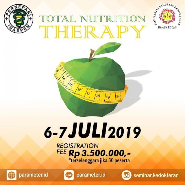 """Pelatihan TNT """"Total Nutrition Therapy"""" 06-07 Juli 2019 Bandung"""
