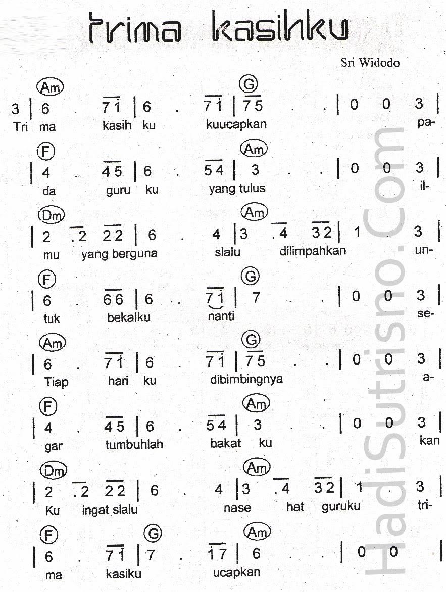 Syair Lagu Tentang Pendidikan Lagu Batak Tentang Artis Pencipta Musisi Produser Lagu Terima Kasih Guruku Lirik Acord Partitur Visiuniversal