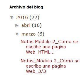 Widget Archivo del blog estilo jerarquía en Blogger