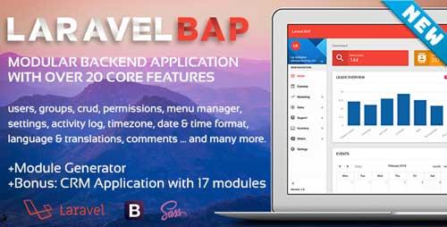 Laravel BAP V-1 0 3 Modular Application Platform and CRM - Info