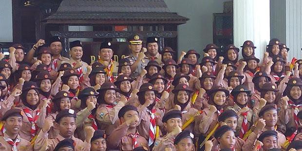 Kapolresta Sidoarjo Minta Anggota Pramuka di Sidoarjo Tetap Tingkatkan Patriotisme