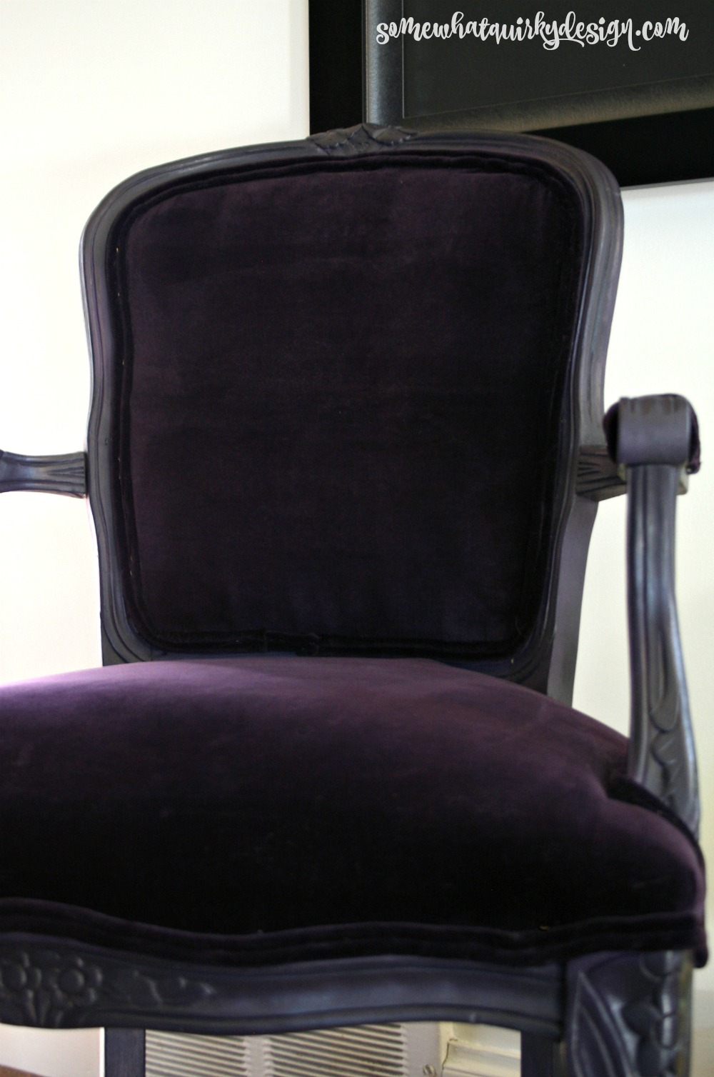 Purple velvet chair - Then I Buffed The Whole Chair And Took Some New Pictures