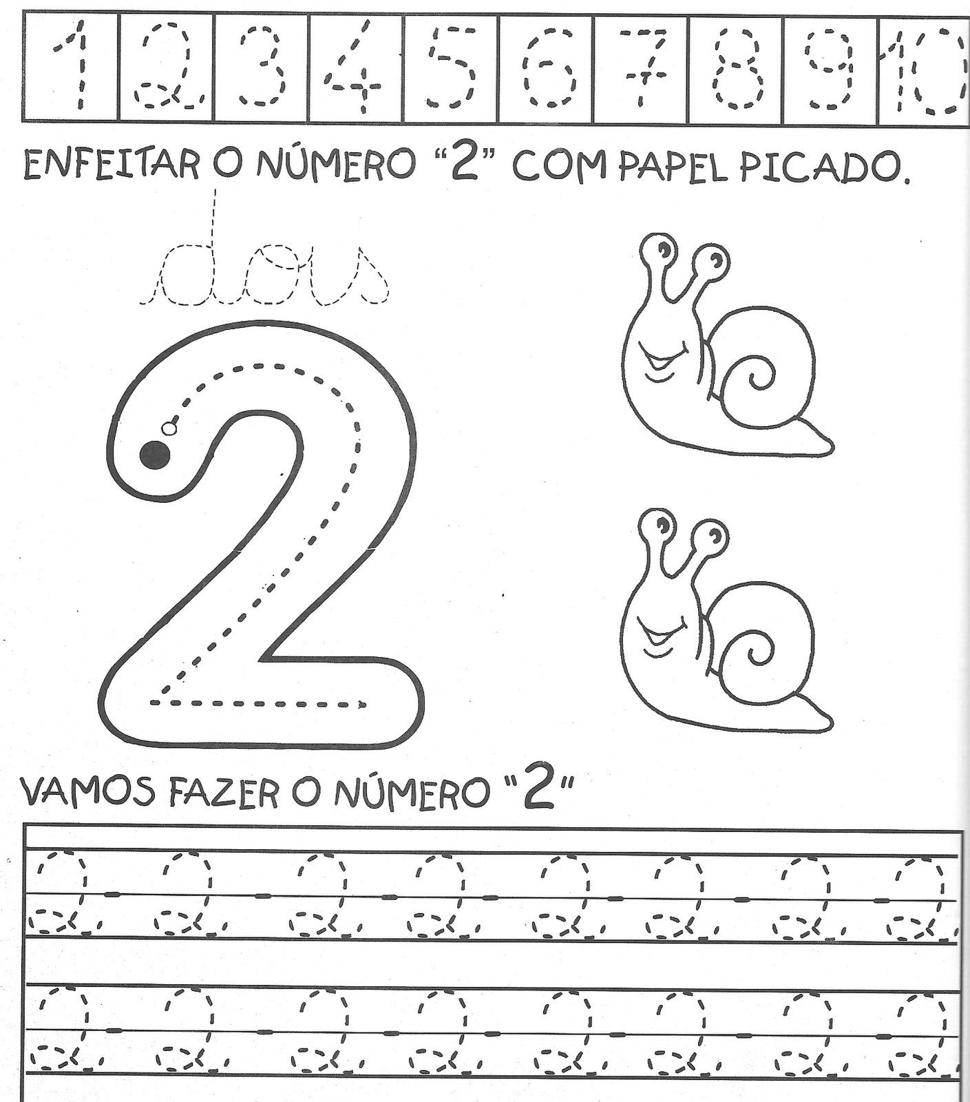 Muito ATIVIDADES PARA TREINAR OS NÚMEROS DE 1 A 10. - Aprender e Brincar BM43