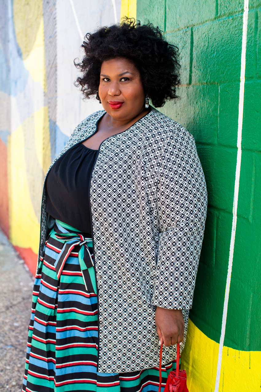 plus size statement skirt