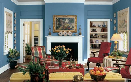 Bijayya Home Interior Design: living room colour design - House Living Room Painting Designs