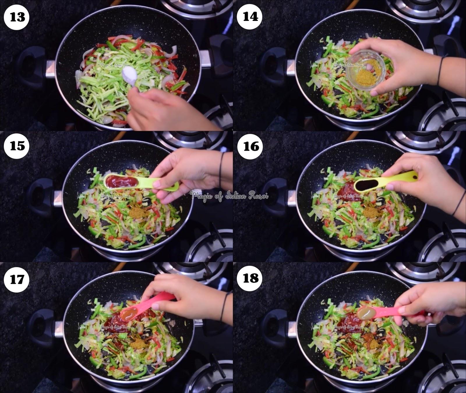 Noodles Dosa - Spring Dosa - Chinese Dosa - Easy Party Starter Recipe - नूडल्स डोसा - स्प्रिंग डोसा - चिनेसे डोसा - इजी पार्टी स्टार्टर रेसिपी - Priya R - Magic of Indian Rasoi