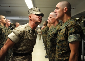 Military training.