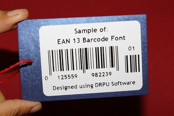 How to create barcode labels using EAN13 barcode font | Barcode Label