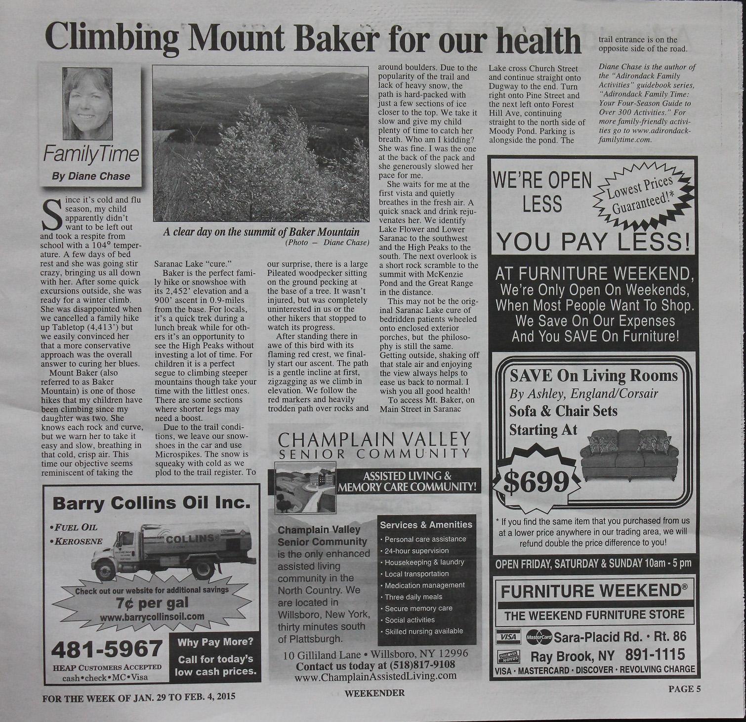 Hike Mt. Baker, Saranac Lake 6er