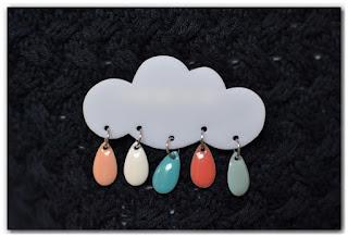 broches nuage et gouttes pastel