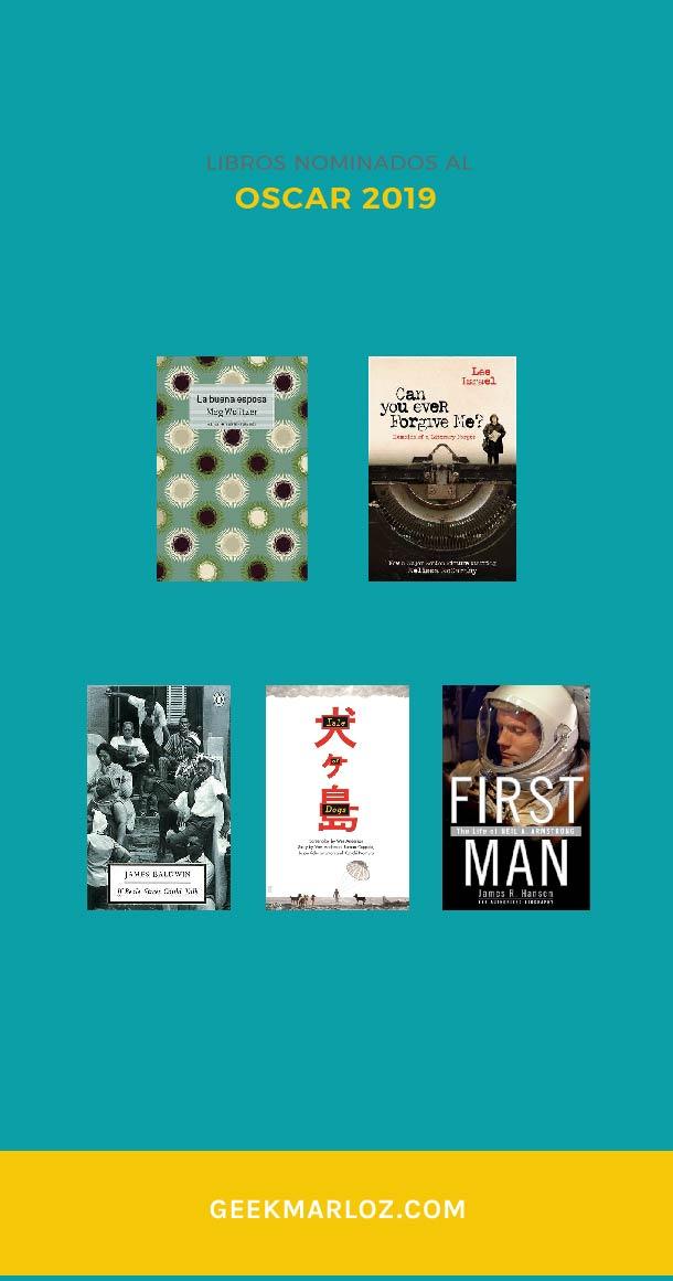 Libros nominados al Oscar 2019
